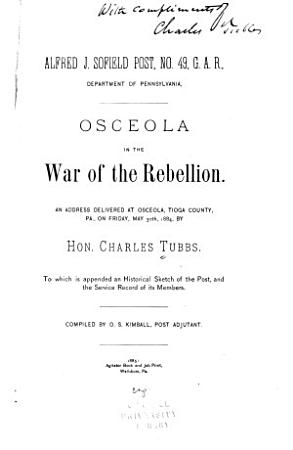 Osceola in the War of the Rebellion PDF