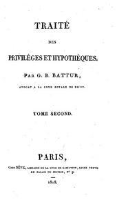 Traité des priviléges et hypothèques: Volume2
