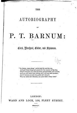 The autobiography of P T  Barnum PDF