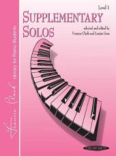 Supplementary Solos, Level 1: For Elementary Piano