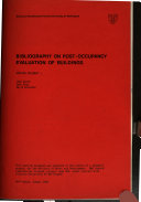 Bibliography on Post occupancy Evaluation of Buildings PDF