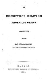De inscriptione Melitensi phoenico-graeca, commentatio