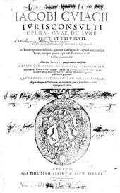Opera, quae de jure fecit: Volume 1
