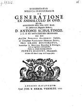De generatione ex animalculo in ovo