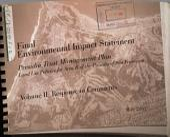 Presidio Trust Implementation Plan, Presidio of San Francisco, San Francisco: Environmental Impact Statement, Volume 2