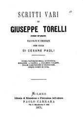 Scritti vari di Giuseppe Torelli (Ciro d'Arco)