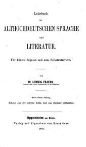 Lehrbuch der althochdeutschen Sprache ...