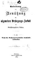 Anleitung zur Ben  tzung der allgemeinen Versorgungs Anstalt f  r Grossherzogthum Baden PDF