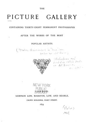The Picture Gallery PDF