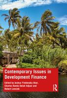 Contemporary Issues in Development Finance PDF