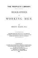 Biographies of Working Men PDF