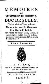Memoires mis en ordre avec de remarques, par Mr. L. D. L. D. L. Nouvelle ed. (etc.): Volume1