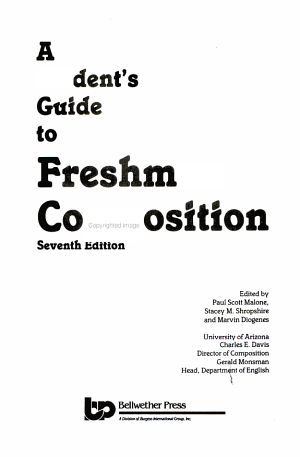 A Student's Guide to Freshman Composition