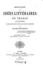 Histoire des Idees Litteaires
