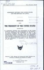 Agreement Between the United States and the Republic of Latvia