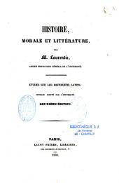 Etudes sur les historiens latins