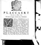 Placcaert van den 12. November 1764, van niet te mogen verlaeten deze Nederlanden