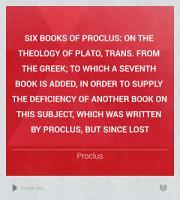 Six Books of Proclus PDF