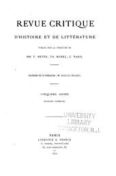 Revue critique d'histoire et de littérature: Volume2;Volume10