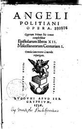 Angeli Politiani Opera