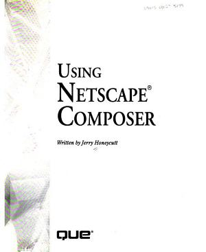 Using Netscape Composer PDF