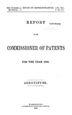 Report of the Commissioner of Patents for the Year