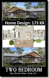 Blueprint : 173KR House Plan - 2 Bedroom Plus Study Set House Plans For Sale: Buy Copyright License Pack & Sketch Plans ( Study Set )