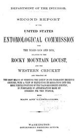 Report of the United States Entomological Commission: Volume 2