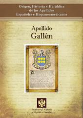 Apellido Gallén: Origen, Historia y heráldica de los Apellidos Españoles e Hispanoamericanos