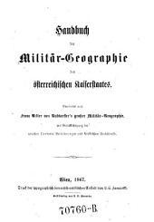 Handbuch der Militär-Geographie des österreichischen Kaiserstaates