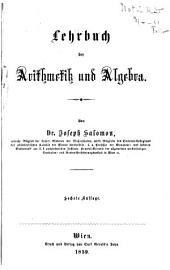 Lehrbuch der Arithmetik und Algebra