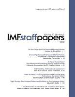 IMF Staff Papers PDF