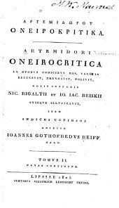 Oneirocritica ex duobus codicibus mss. Venetis: Volume 2