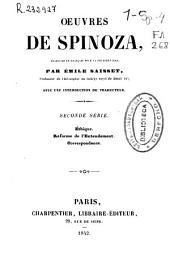 Oeuvres de Spinoza: Volume2