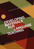 Developing Materials for Language Teaching PDF
