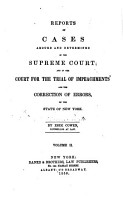 Reports of Cases Argued and Determined in the Supreme Court  and in the Court for the Trial of Impeachments and the Correction of Errors  in the State of New York  1823 1829  PDF
