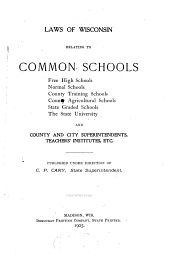 Law of Wisconsin Relating to Common Schools