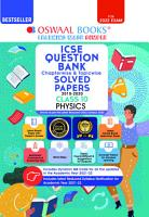 Oswaal ICSE Question Bank Class 10 Physics Book Chapterwise   Topicwise  Reduced Syllabus   For 2022 Exam  PDF