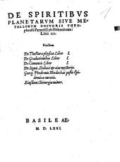 De Spiritibus Planetarum Sive Metallorum