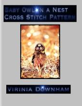 Baby Owl in a Nest Cross Stitch Pattern