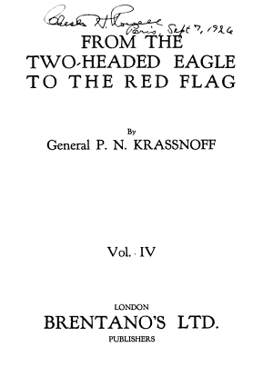 From the Two-headed Eagle to the Red Flag, 1894-1921