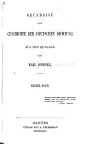 Grundriss zur Geschichte der deutschen Dichtung aus den quellen: Band 1