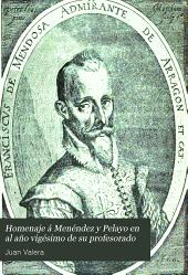 Homenaje á Menéndez y Pelayo en el año vigésimo de su profesorado: estudios de erudición española