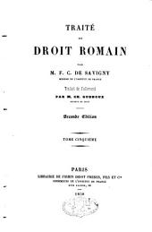 Traité de droit romain: Volume 5