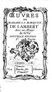 Oeuvres de Madame la Marquise de Lambert