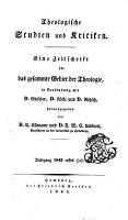 Theologische studien und kritiken PDF