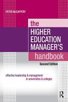 The Higher Education Manager s Handbook PDF