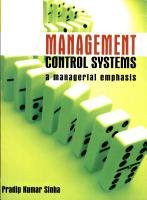 Management Control Systems A Managerial Emphasis PDF