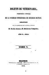 Boletín de veterinaria: periódico oficial de la Sociedad Veterinaria de Socorros Mutuos, Volumen 10,Número 253 -Volumen 11,Número 324