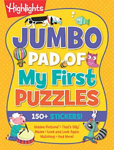 Jumbo Pad of My First Puzzles Book